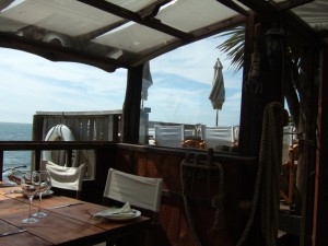 favourite restaurant - Steephill Cove on the island